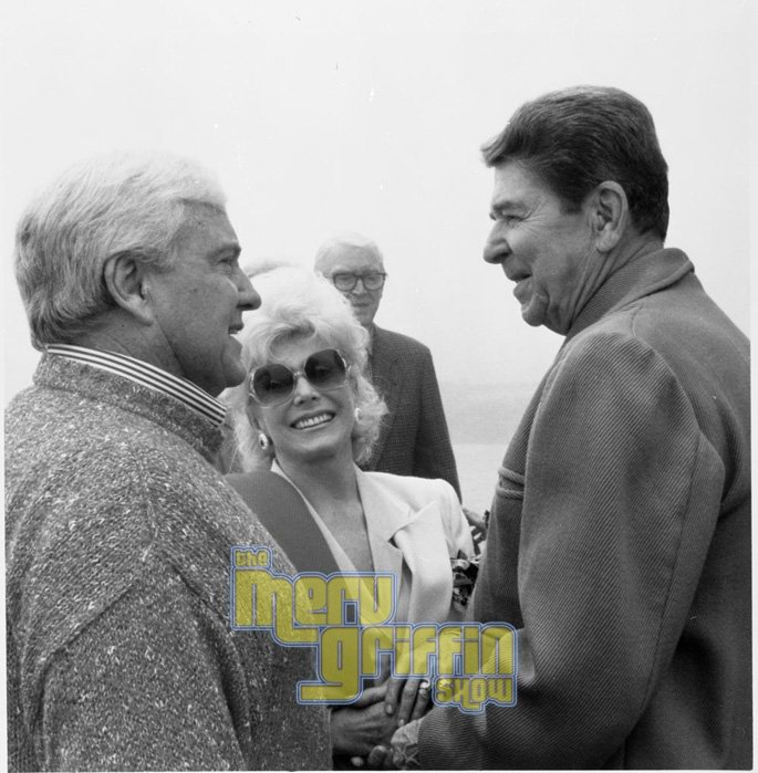 Merv, Zsa Zsa Gabor and Ronald Reagan