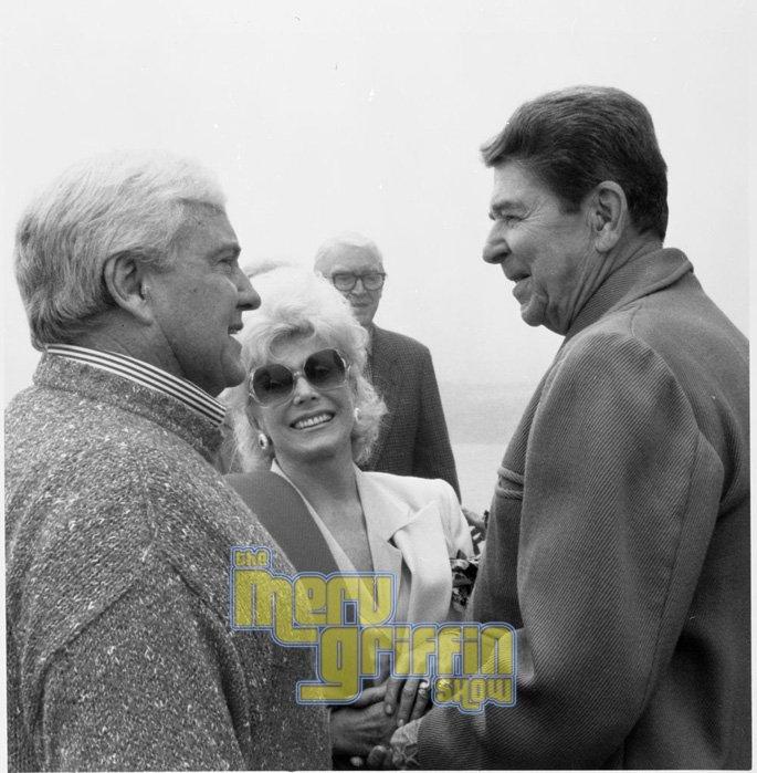 Merv, Zsa Zsa Gabor and Ronald Reagan